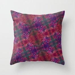 Electron Bloom Throw Pillow