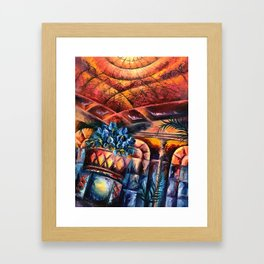 """Palm Court"" Painting Framed Art Print"