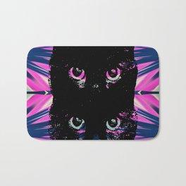 Black Cat Rising Bath Mat