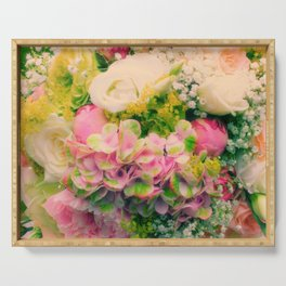 bridal bouquet Serving Tray