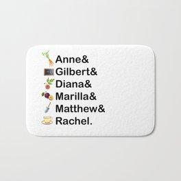 Anne of Green Gables Names Bath Mat