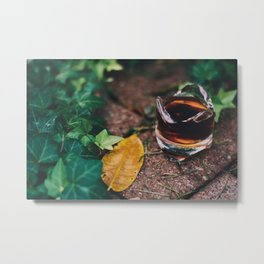 Autumn Coffee Metal Print