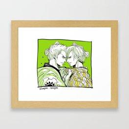 Zoro Sanji Wano Framed Art Print