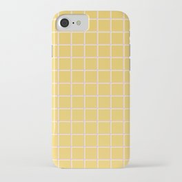 MINIMAL GRID YELLOW iPhone Case