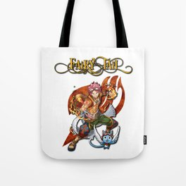Fairy Tail Natsu and Happy Tote Bag