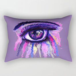 Rainbow anime eye Rectangular Pillow
