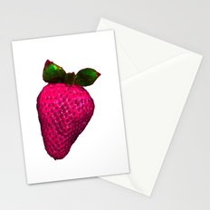 STRAWBERRY BECAME ROSY Stationery Cards