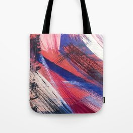 Los Angeles: A vibrant, abstract piece in reds and blues by Alyssa Hamilton Art Tote Bag