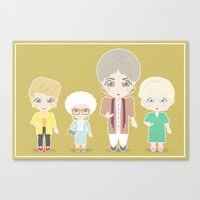 golden girls Canvas Prints featuring Girls in their Golden Years by Ricky Kwong