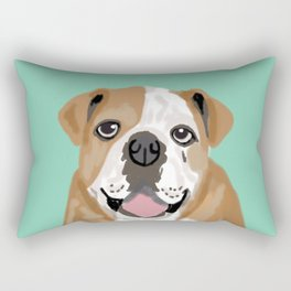 Roscoe - English bulldog dog dogs pet pets gifts for dog person dog people  Rectangular Pillow