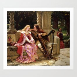"Edmund Blair Leighton ""Tristan and Isolde"" Art Print"