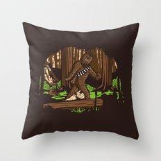 The Bigfoot of Endor Throw Pillow