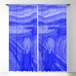 The Scream - Edvard Munch - Japanese Porcelain Concept Blackout Curtain