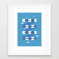chelsea fc Framed Art Prints featuring Chelsea FC by Michael Wilson