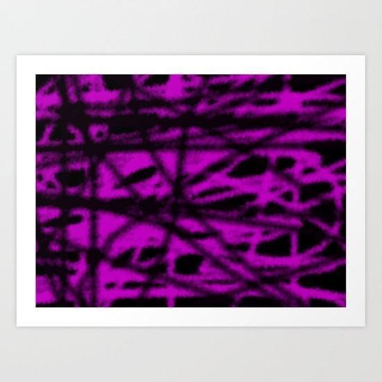 pink and black wire Art Print