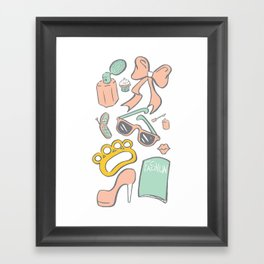Bad Girl Seek and Find Framed Art Print