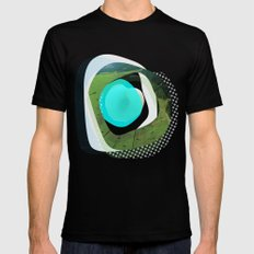the abstract dream 3 MEDIUM Mens Fitted Tee Black