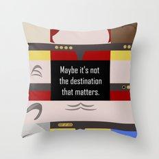Maybe it's not the Destination that matters - Star Trek: Voyager VOY startrek trektangle minimalist Throw Pillow