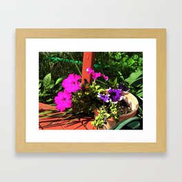 Pink and Purple flowers Framed Art Print