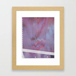 Webcam Glitch Framed Art Print