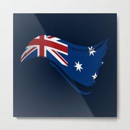 The Flag of Australia I Metal Print