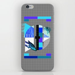 Waiting for the show to begin (Test Pattern 4) iPhone Skin