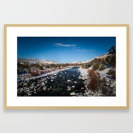 Chama River in Snow Framed Art Print