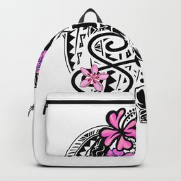 Samoan Life Watercolor badge Backpack