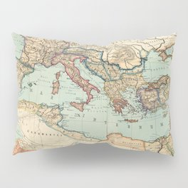 Vintage Map of The Roman Empire (1889) Pillow Sham
