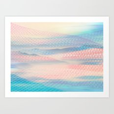 Tulle Mountains 2 Art Print