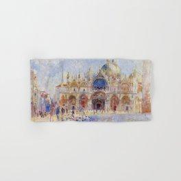 Auguste Renoir - The Piazza San Marco in Venice Hand & Bath Towel