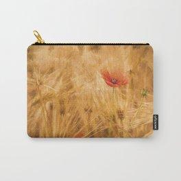Fiery poppy in a golden cornfield- Poppies Flower Flowers #Society6 Carry-All Pouch