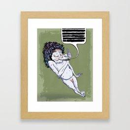 Shit Talker Framed Art Print