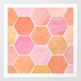 Desert Mood Hexagon Print Art Print