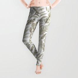 Grey Botanical Leggings