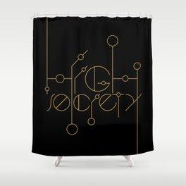 High Society (Black) Shower Curtain