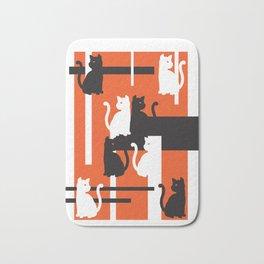 Cat in De Stijl - Halloween Edition Bath Mat