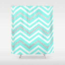 Turquoise Sparkle Shower Curtain