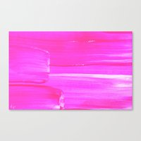 hot pink Canvas Prints featuring Hot PINK by HollyJonesEcu
