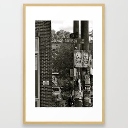 No Street Vendors. Framed Art Print
