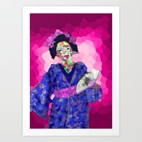 nori Art Prints featuring Maiko Nori by Coconut Lime Design