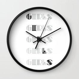 Girls #society6 #decor #buyart #artprint Wall Clock