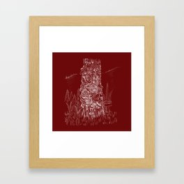 Shoetree in Deep Red Framed Art Print