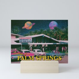 greetings from palm springs Mini Art Print