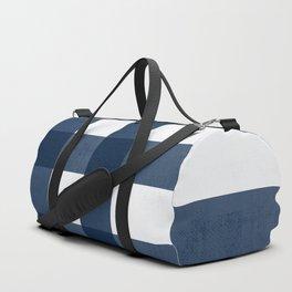Case Study No. 71 | Blue + White Duffle Bag
