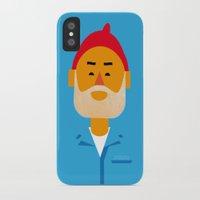 zissou iPhone & iPod Cases featuring Steve Zissou by Marco Recuero