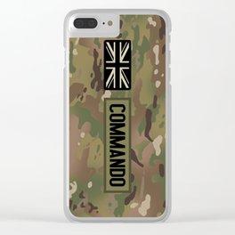 British Flag: Commando (Camo) Clear iPhone Case