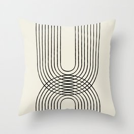 Arch duo 1 Mid century modern Throw Pillow