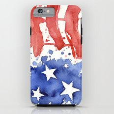 American Flag Watercolor Abstract Stars and Stripes iPhone 6 Tough Case