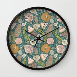 peas on earth Wall Clock